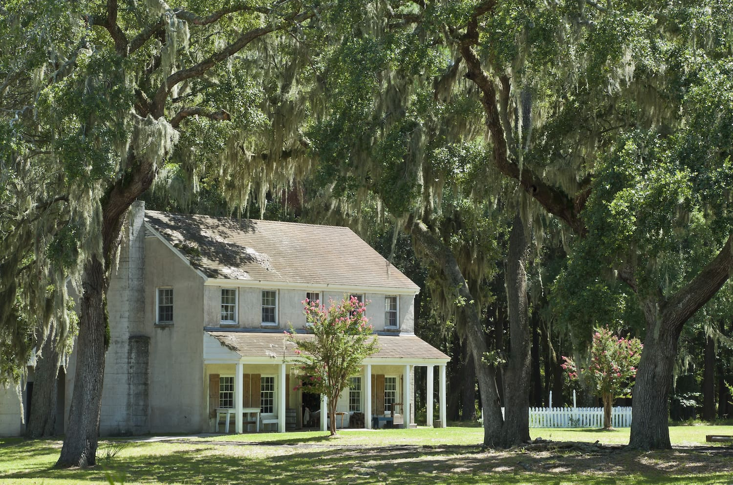 civil war era building surrounded by trees