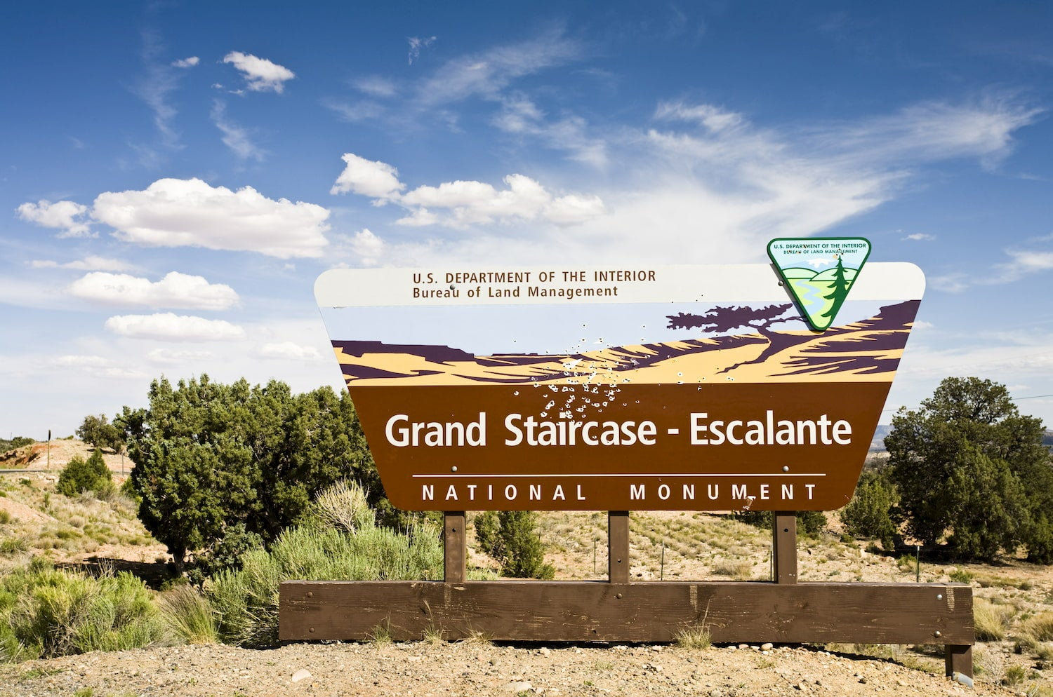 Sign of the Grand Staircase-Escalante National Monument, Escalante, Utah, United States