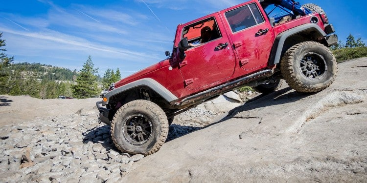 jeep on rubicon trail