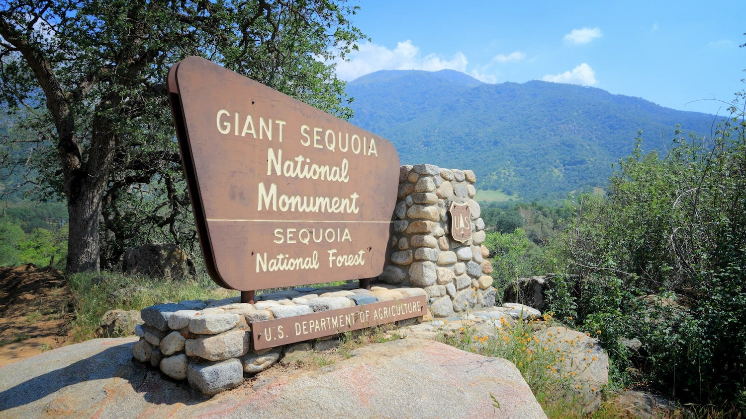 Giant Sequoia National Monument Sign