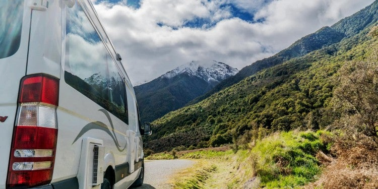 sprinter van and mountains