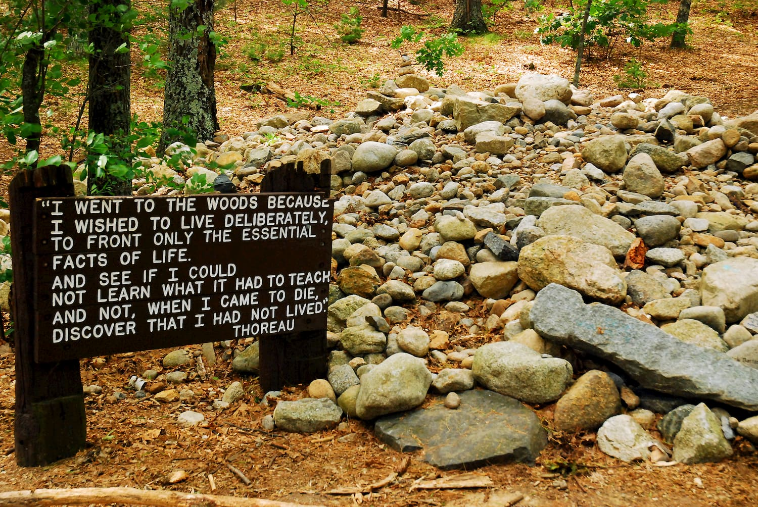 Sign with Thoreau nature quote
