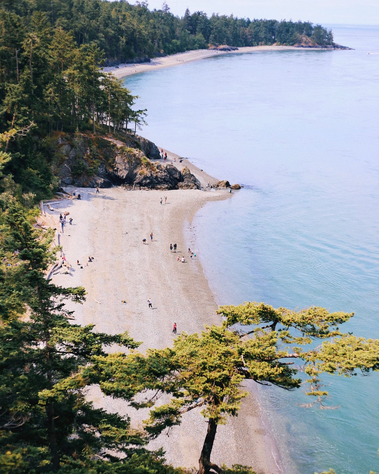 Image looking down upon the coast of Washington.