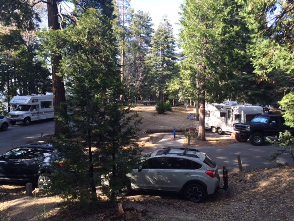 cars around dogwood campground
