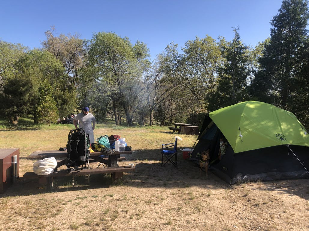 campers at north shore campground