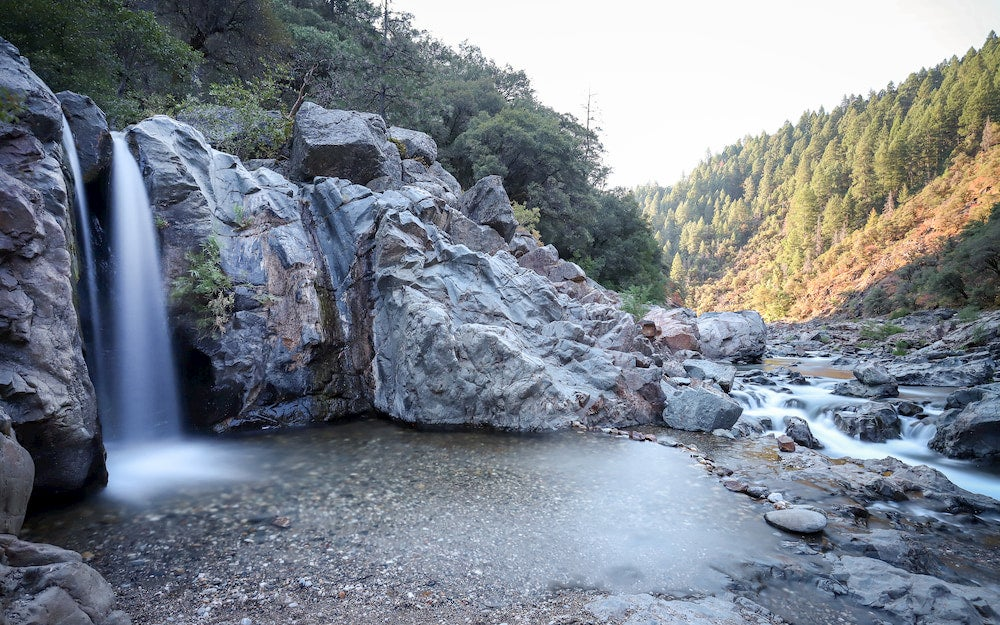 a waterfall in the yuba river