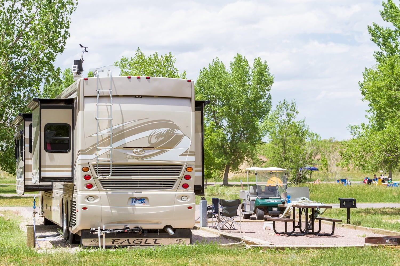 RV at campground in Denver, Colorado