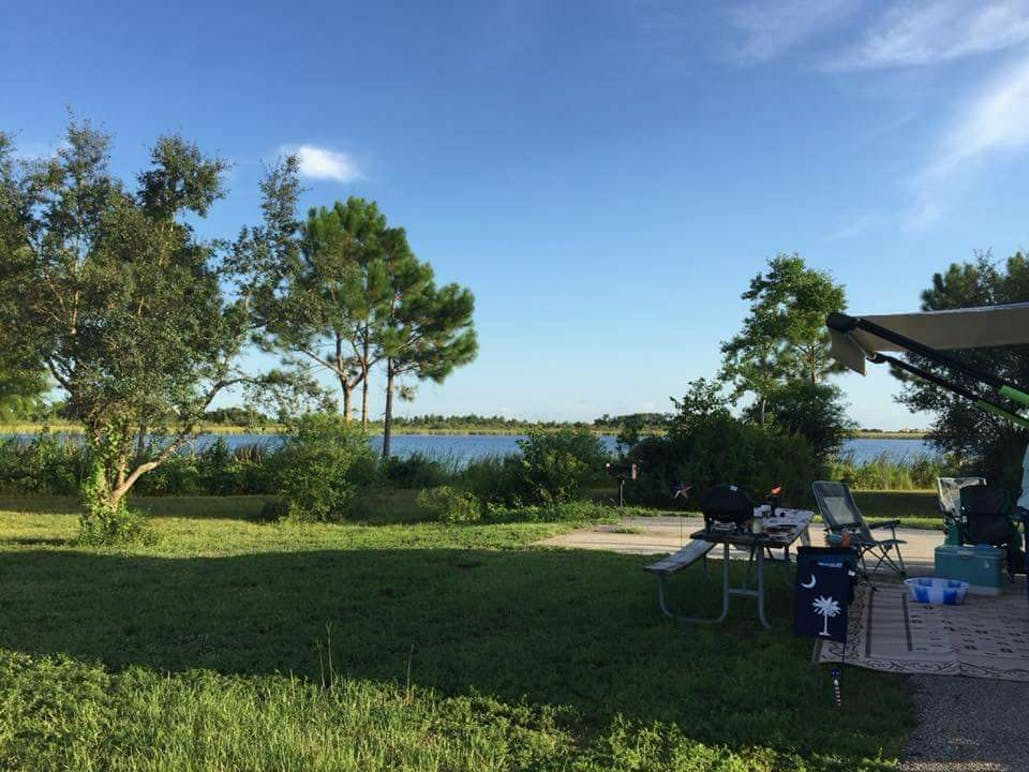 rv campground set up at Alabama Gulf State park