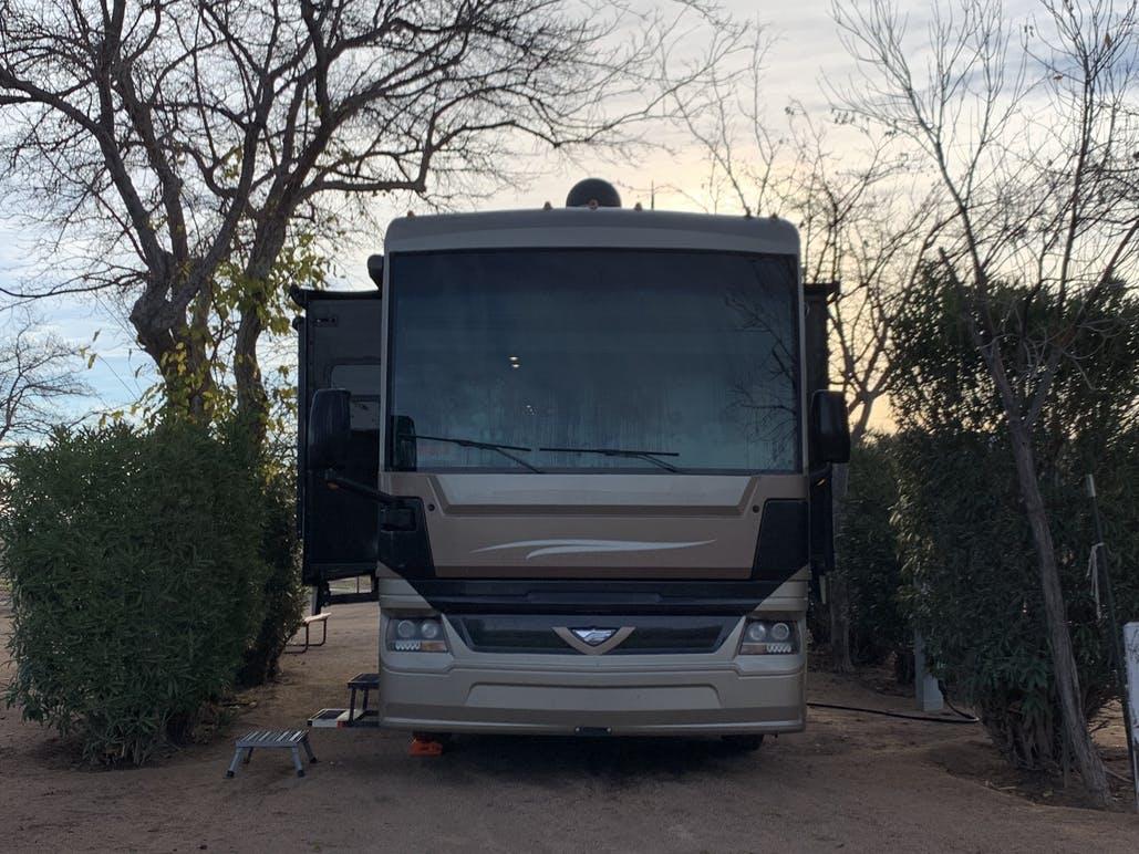 rv in camp site