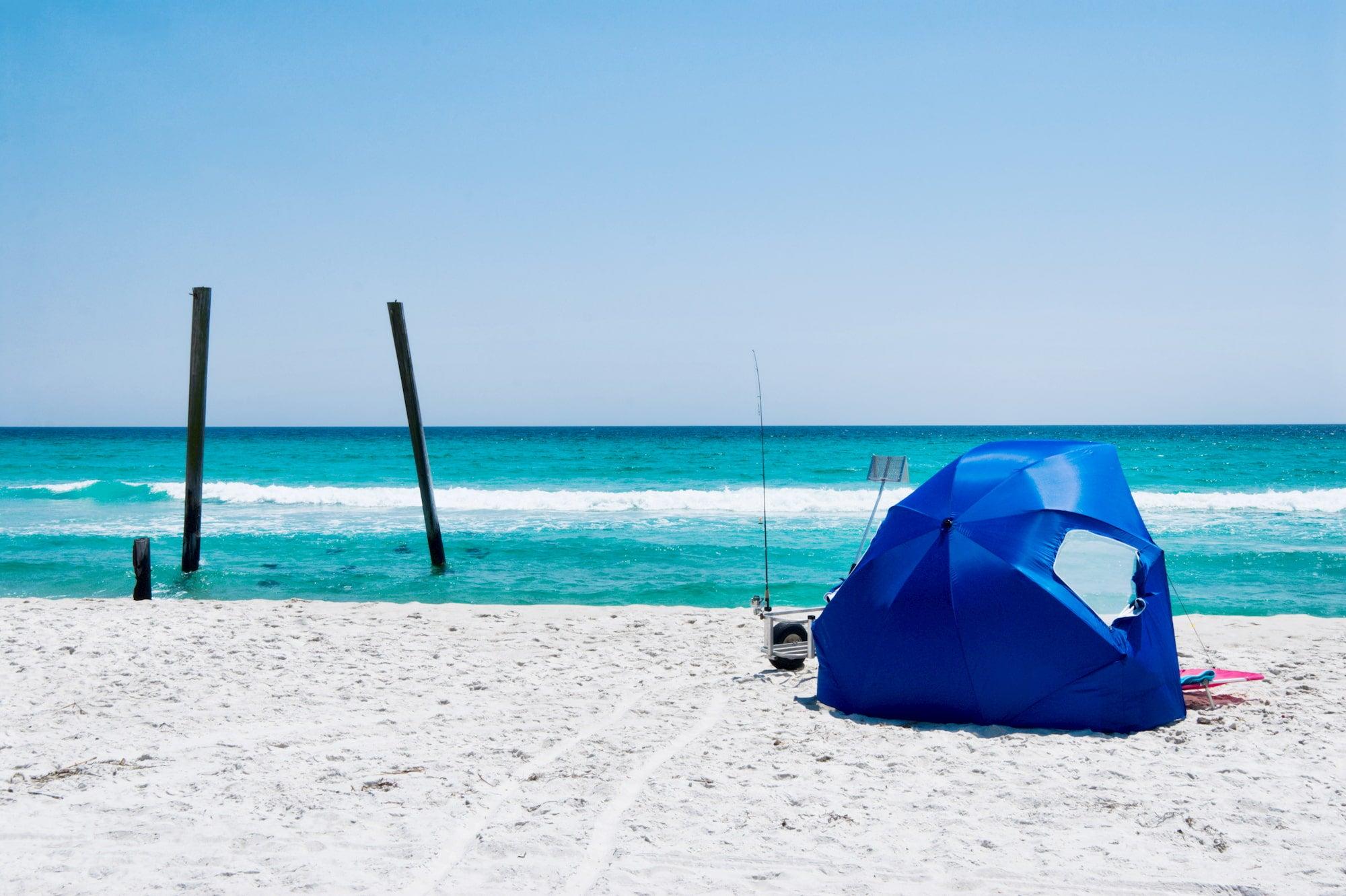 tent on a beach