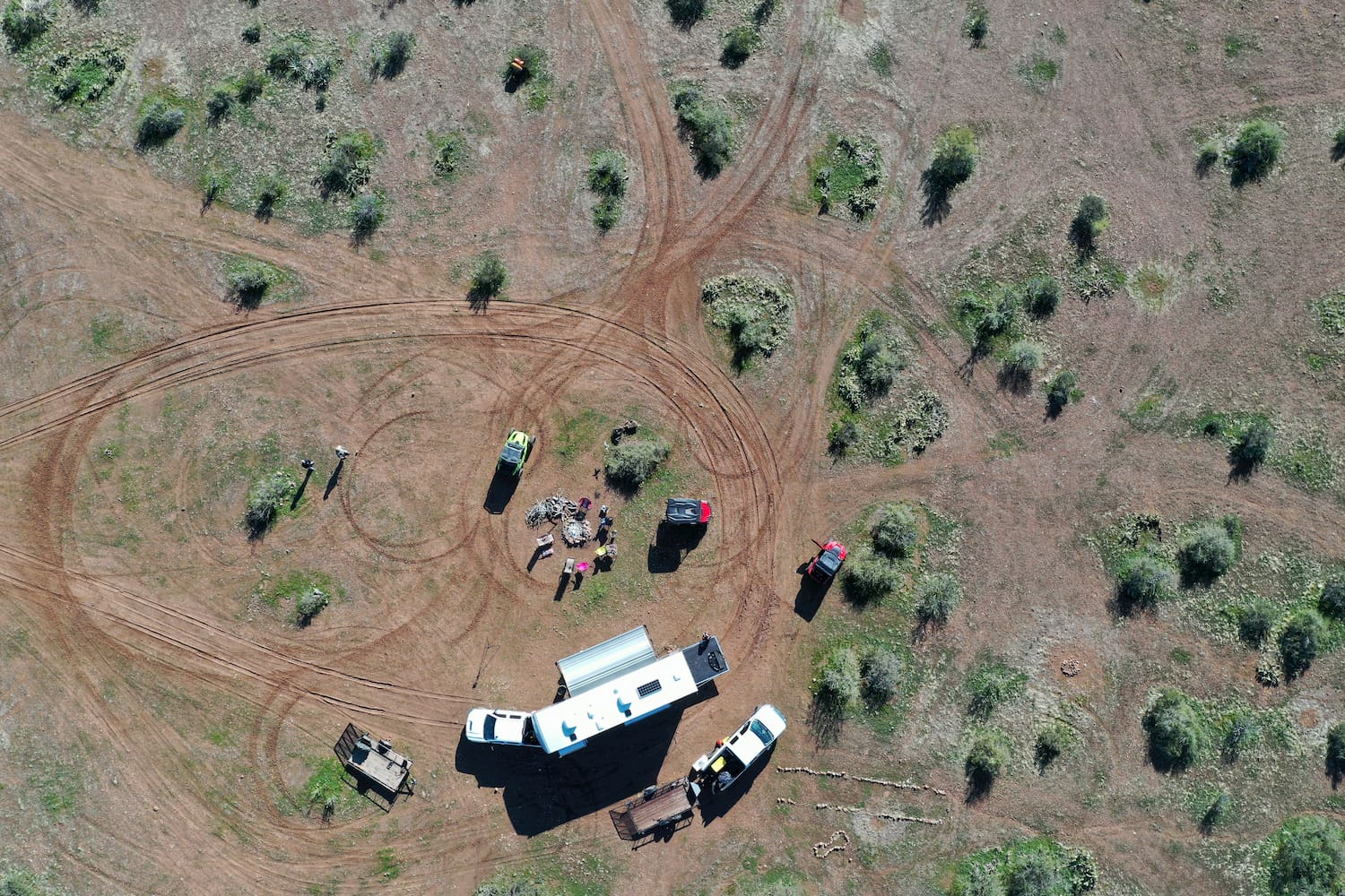 aerial view of boondocking