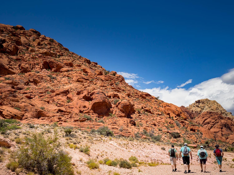 people walking red rock canyon near las vegas
