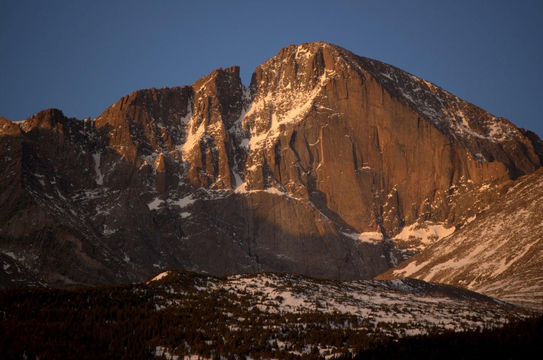 longs peak in rocky mountain national park