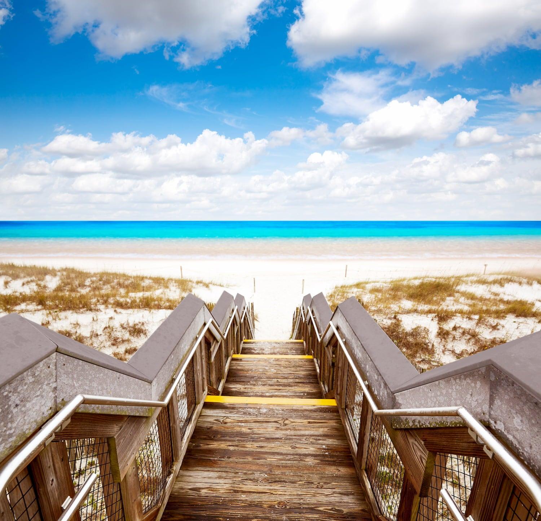 stairs leading down to destin beach florida