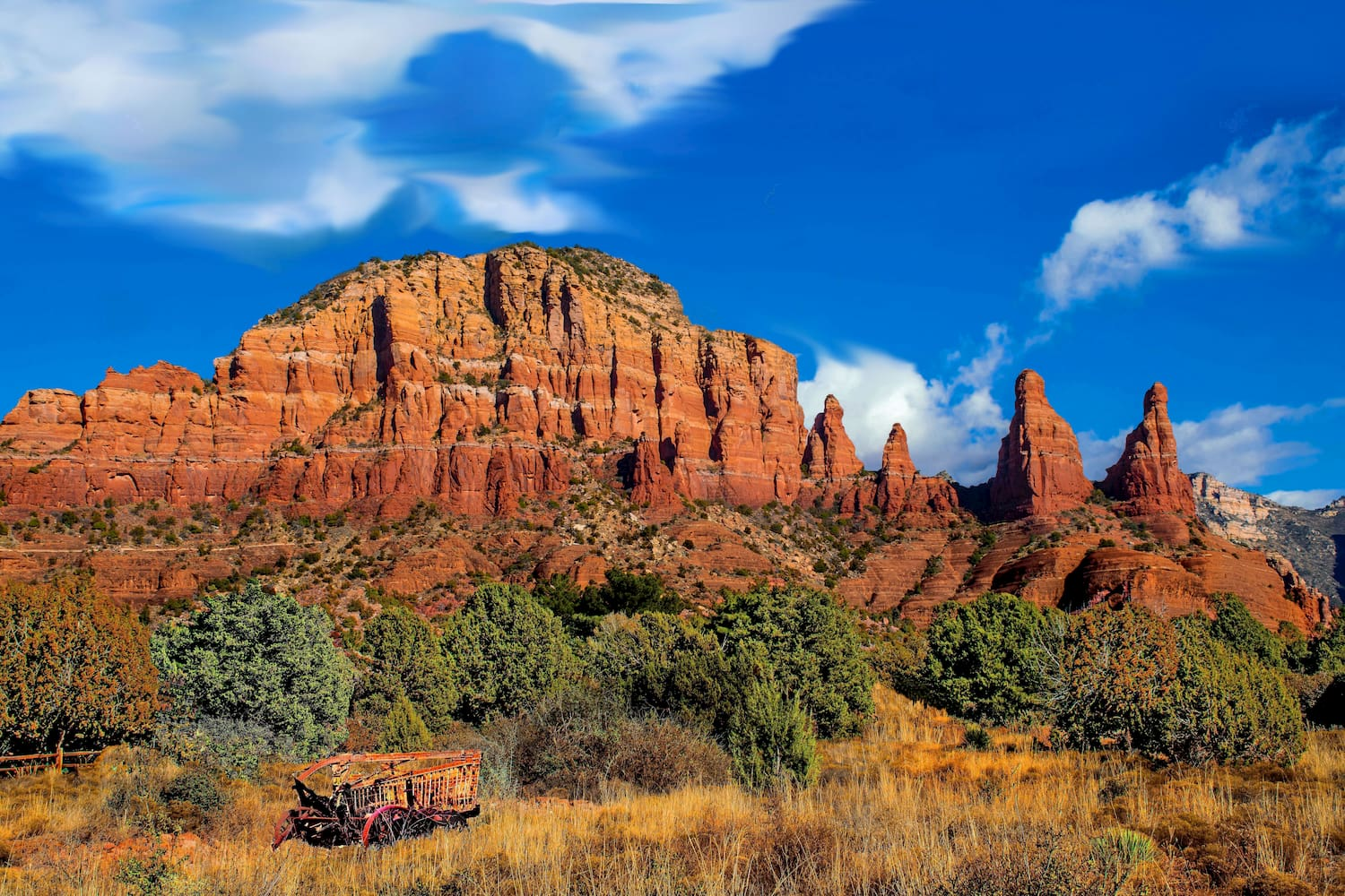 cathedral rock in coconino national forest