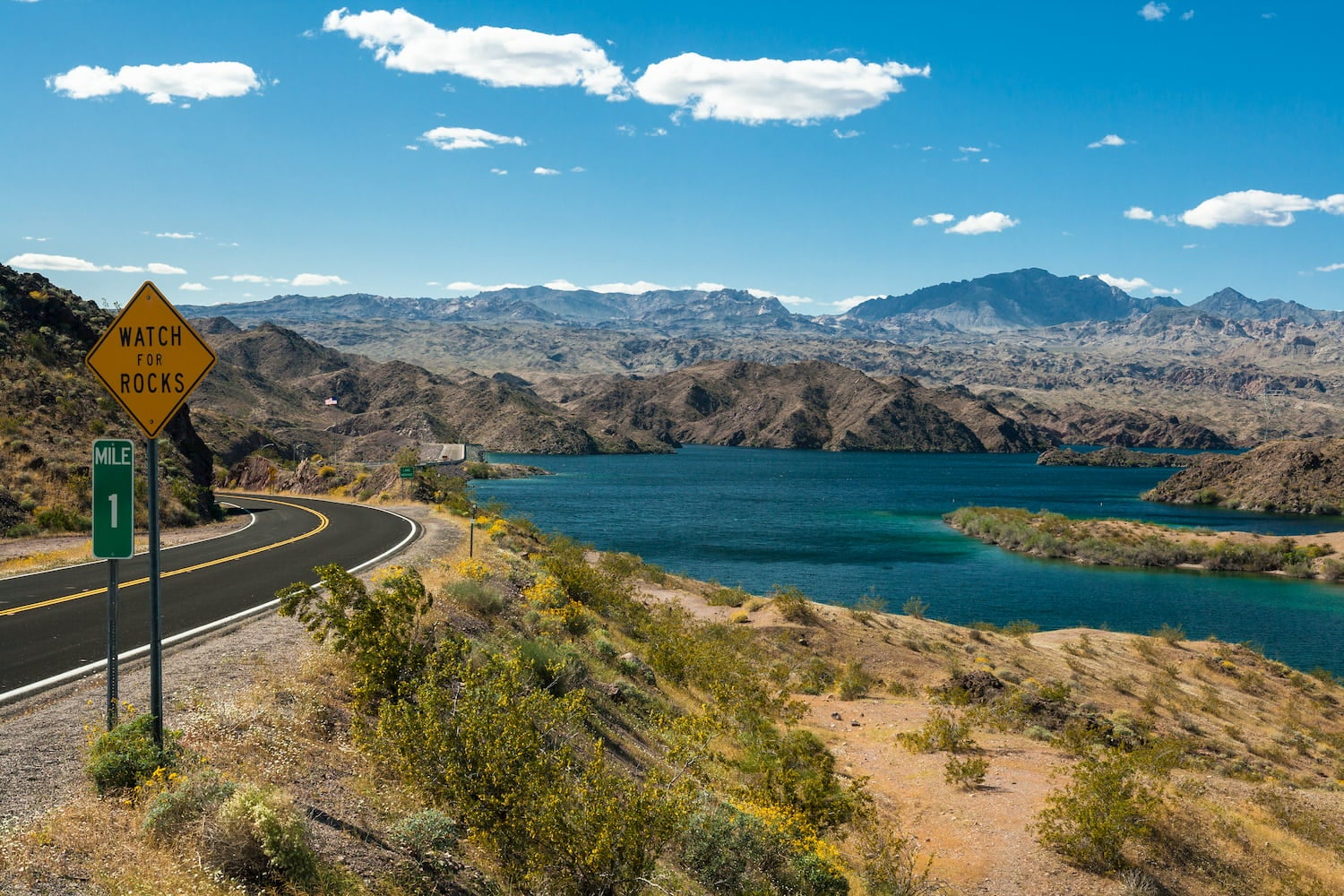 freeway and lake mead