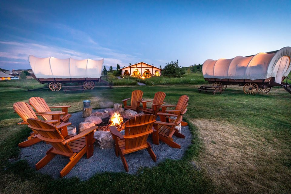 chairs and wagon tents
