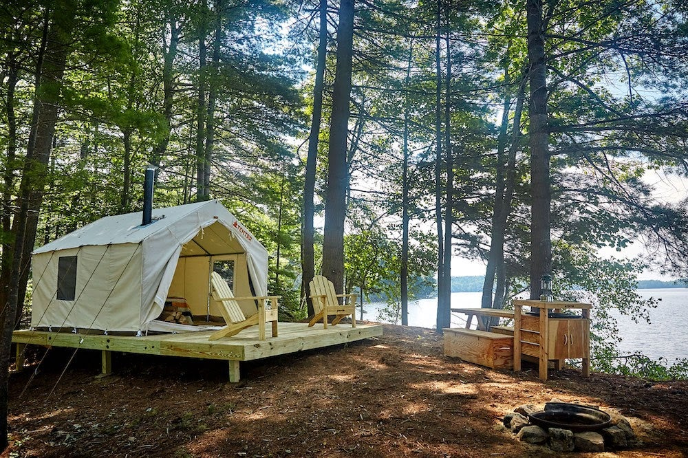 Tentrr tent in Maine state Park.