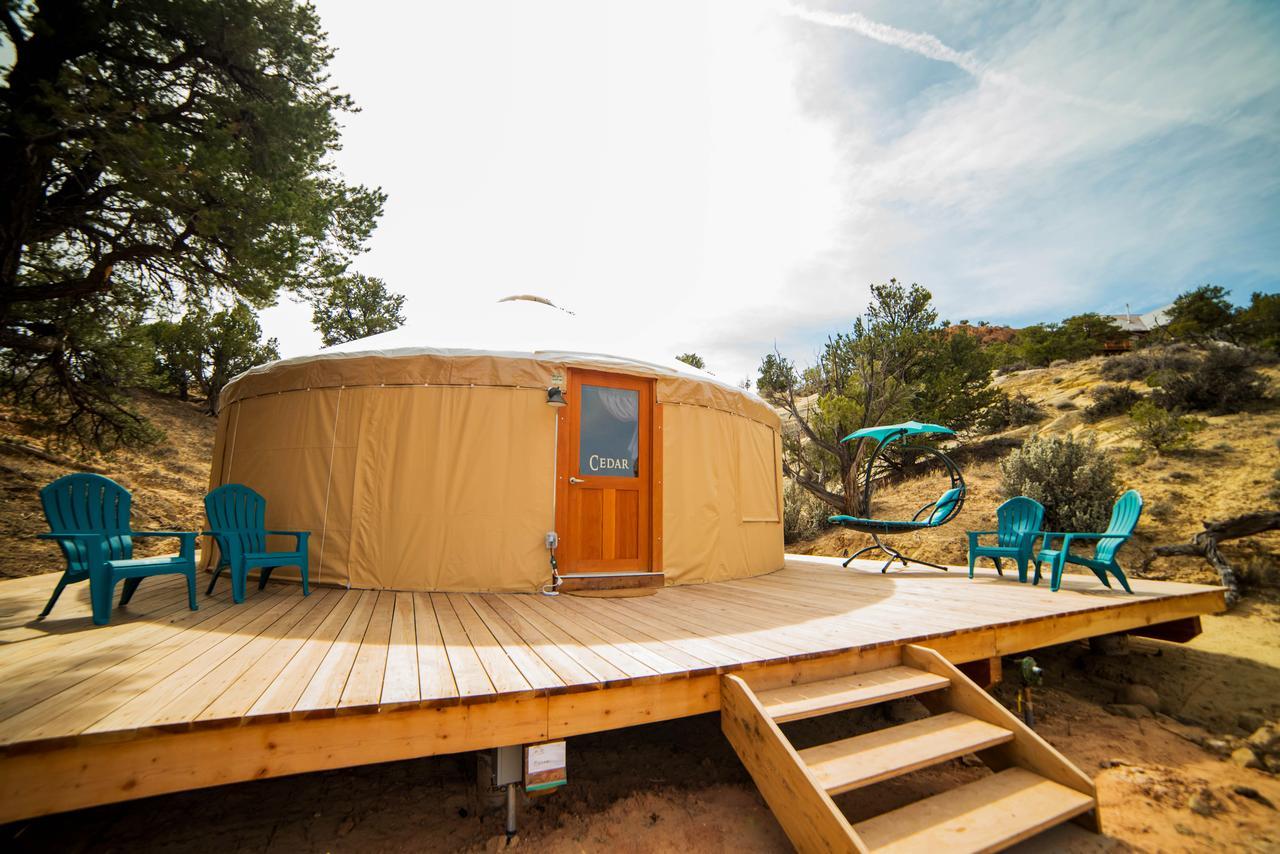 utah glamping at escalante yurts