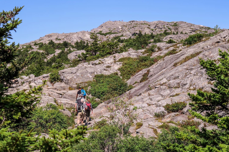 hiker hiking on Mount Monadnock