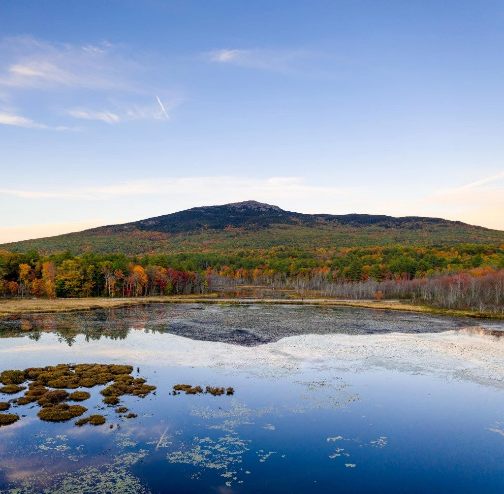 my monadnock with pond reflection