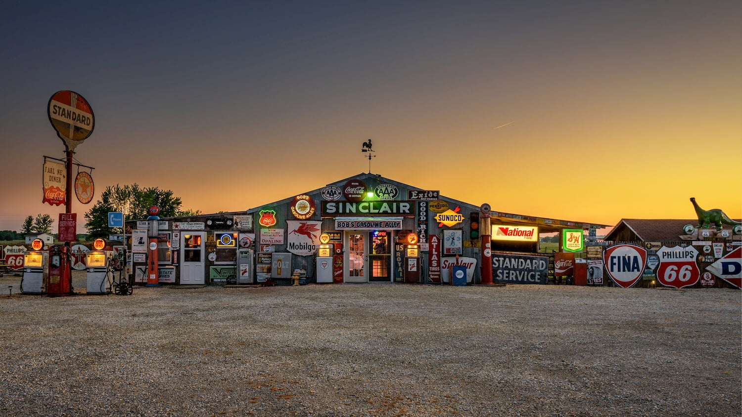 exterior of a gasoline station museum on route 66