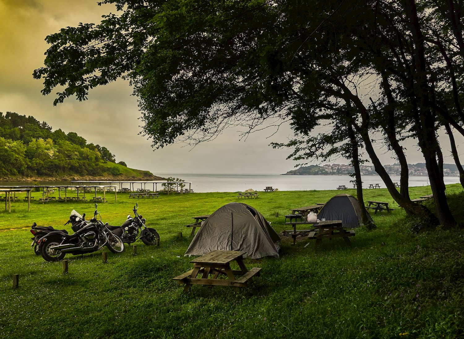 motorcycle tent campers