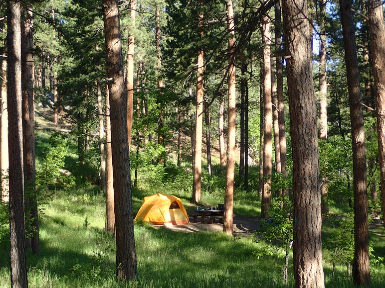 tent at horse-thief lake campground