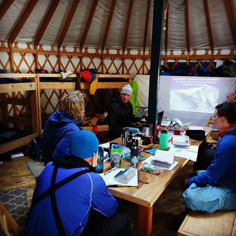 people inside of yurt