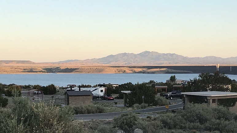 overview of cochiti lake and the campground