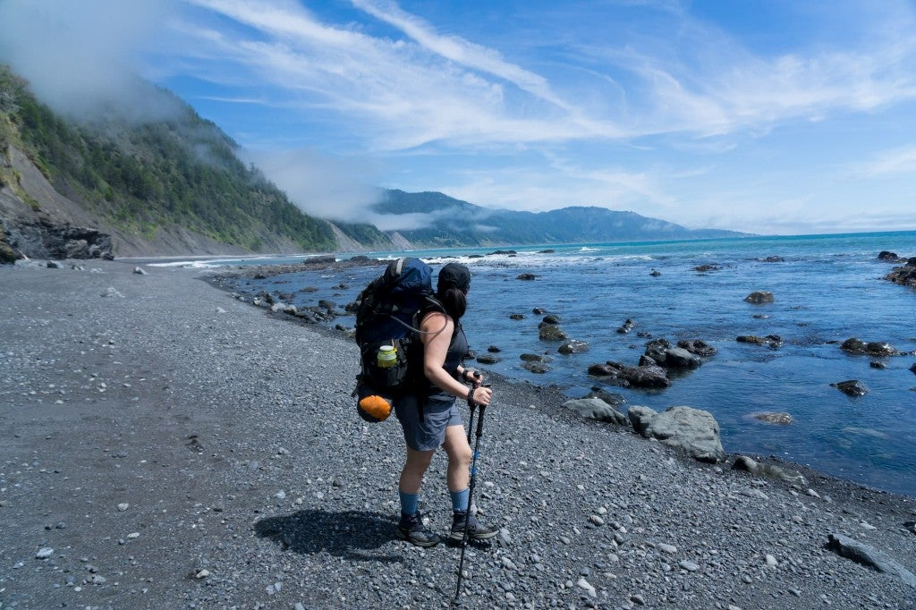 woman on beach at Lost Coast Trail