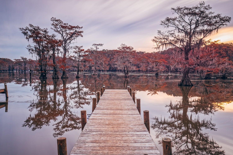 dock at lake caddo state park