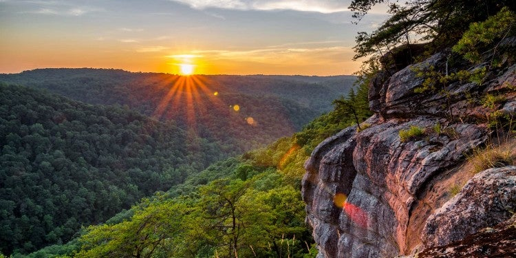 sunset over big south fork national river