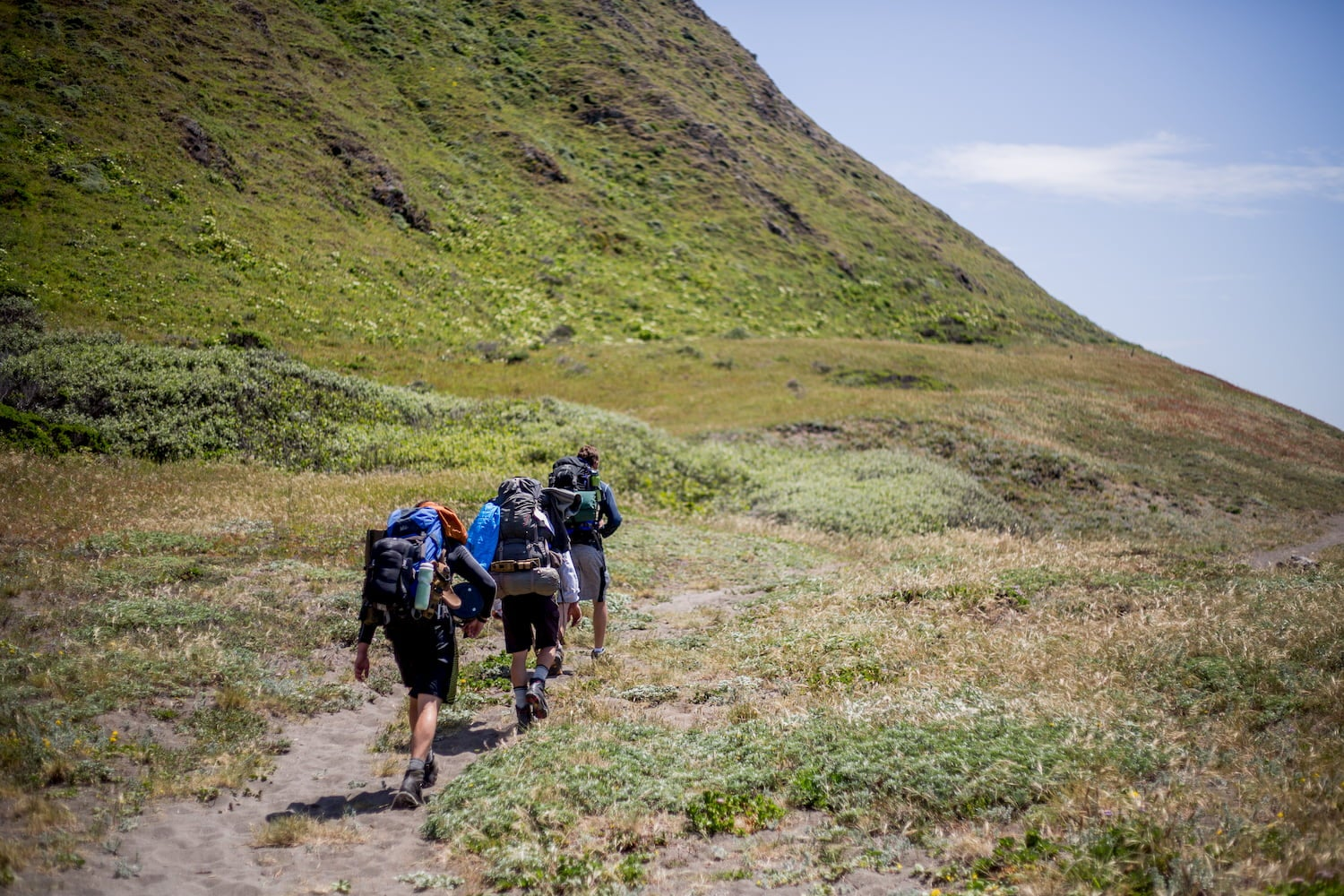 hikers on the lost coast trail