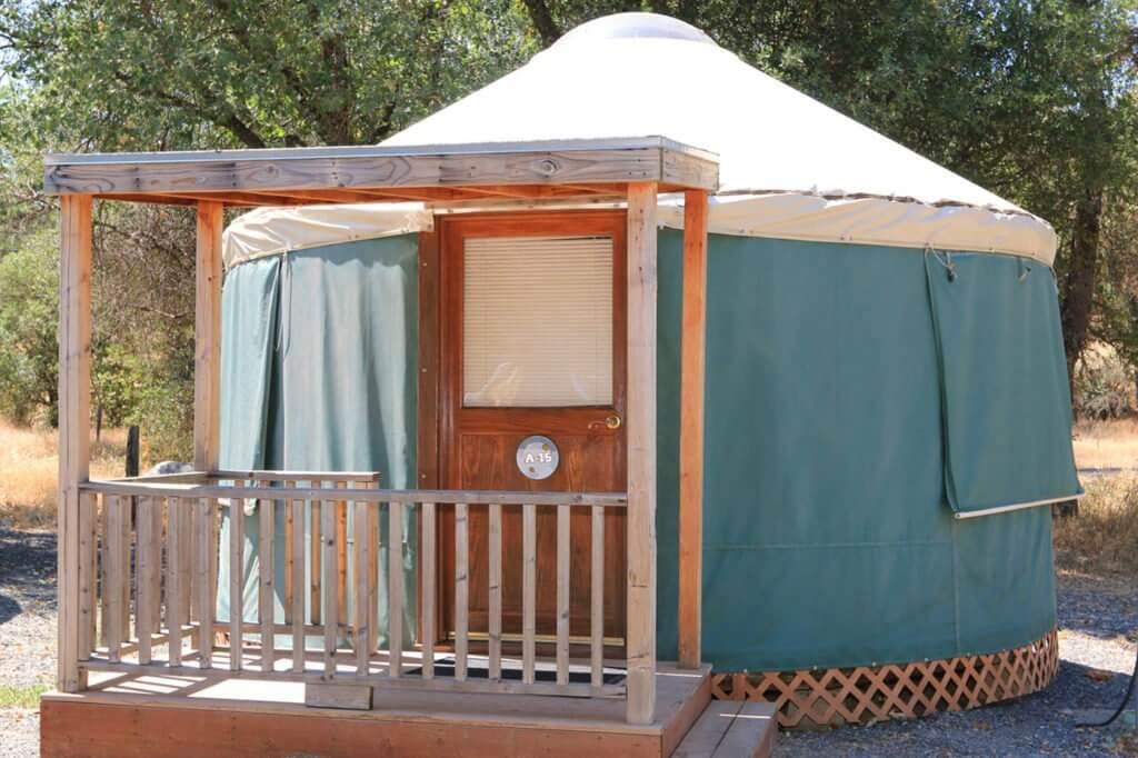 yurt at yosemite pines RV resort