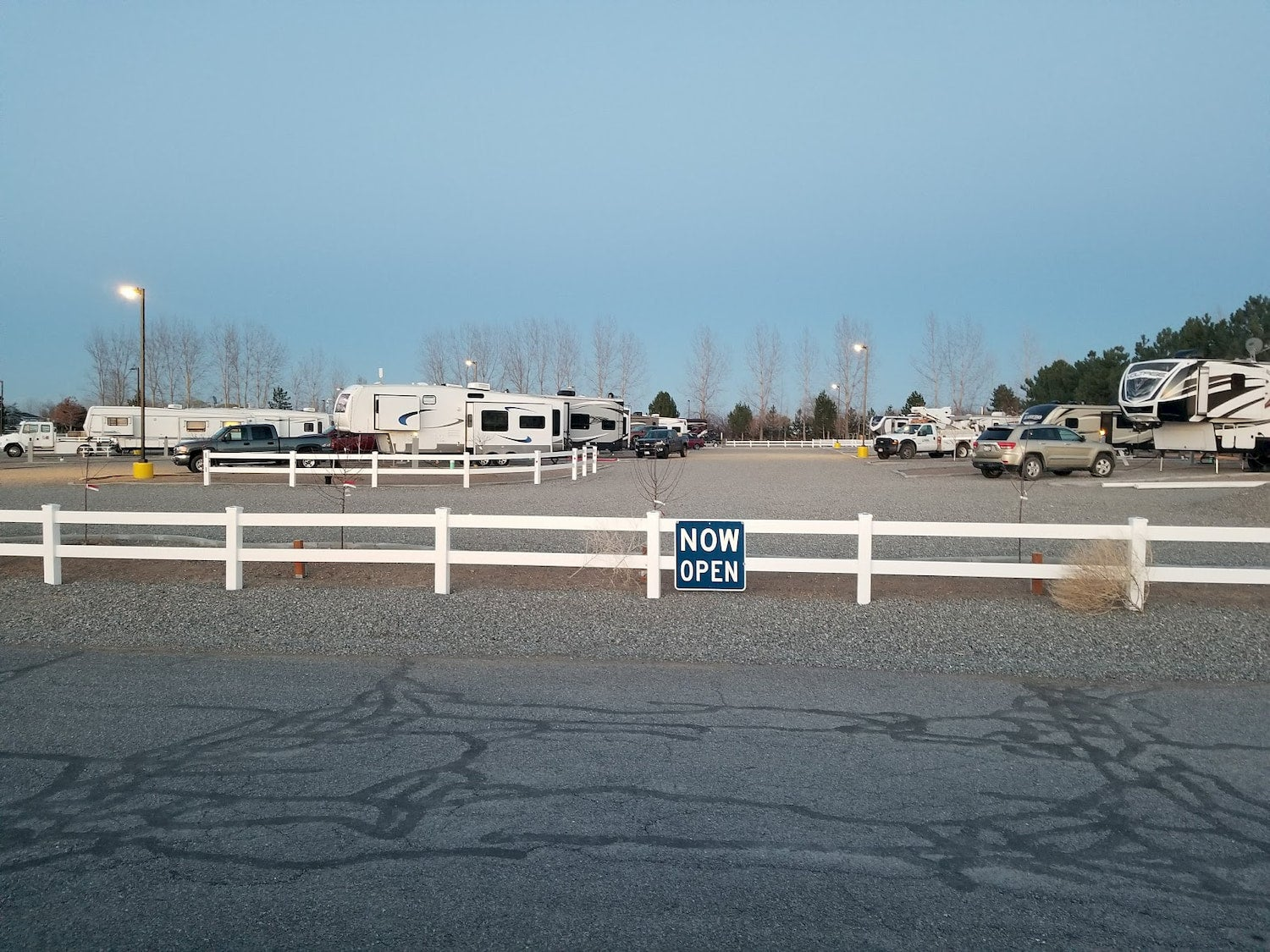 rows of rvs parked at campground