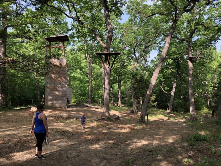 tree houses at binder park