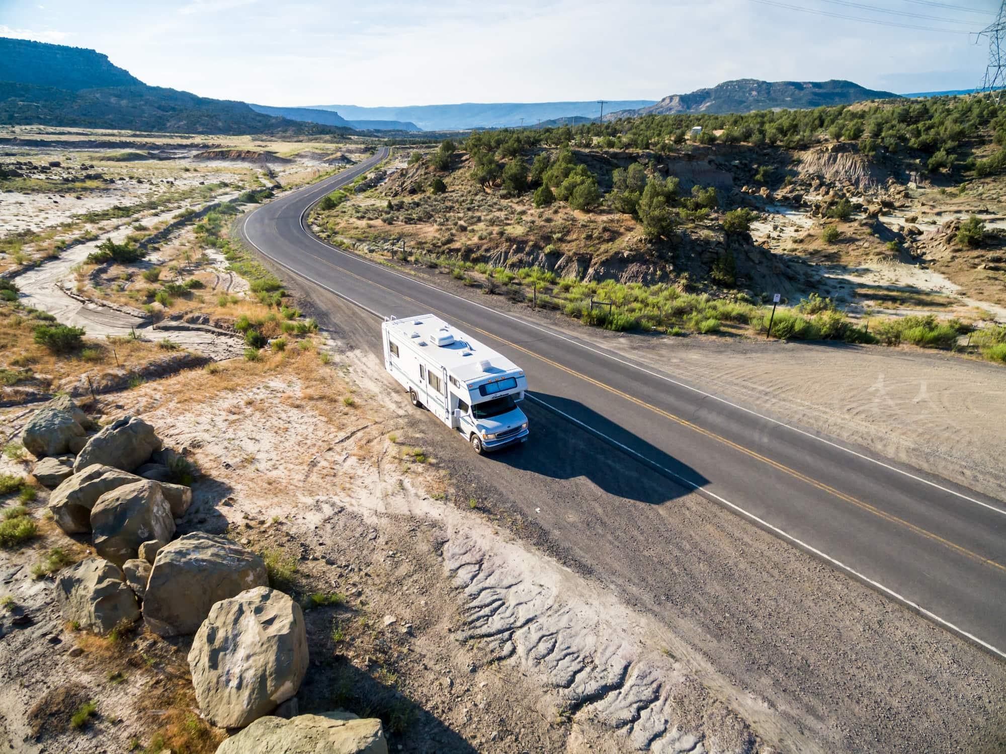 rv on freeway near grand junction colorado