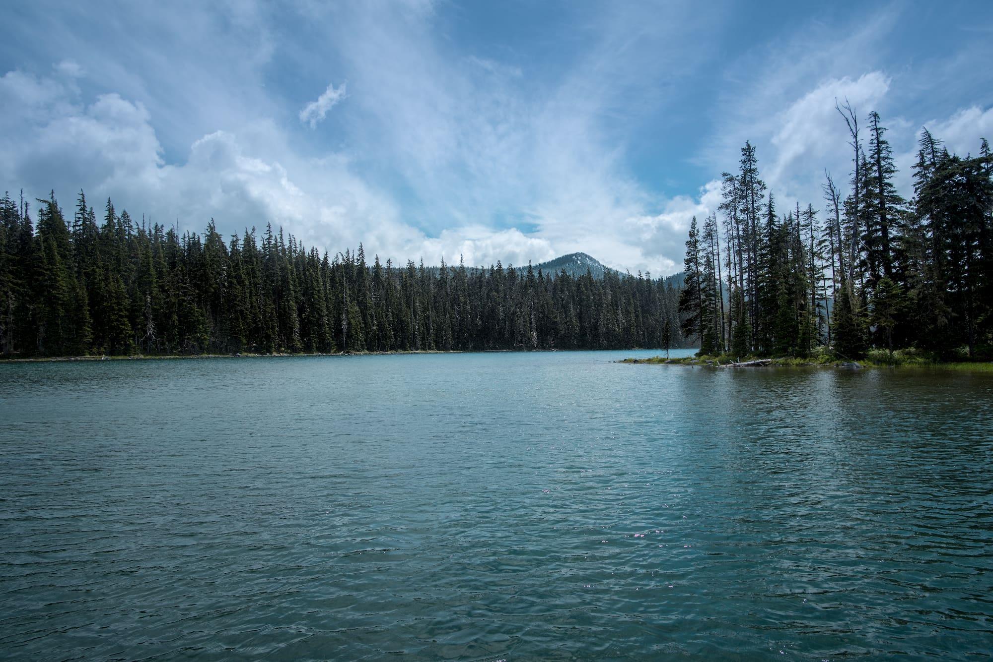 Waldo Lake, a campground near Eugene Oregon.