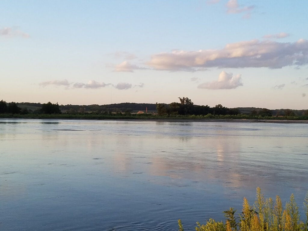platte river at sunset