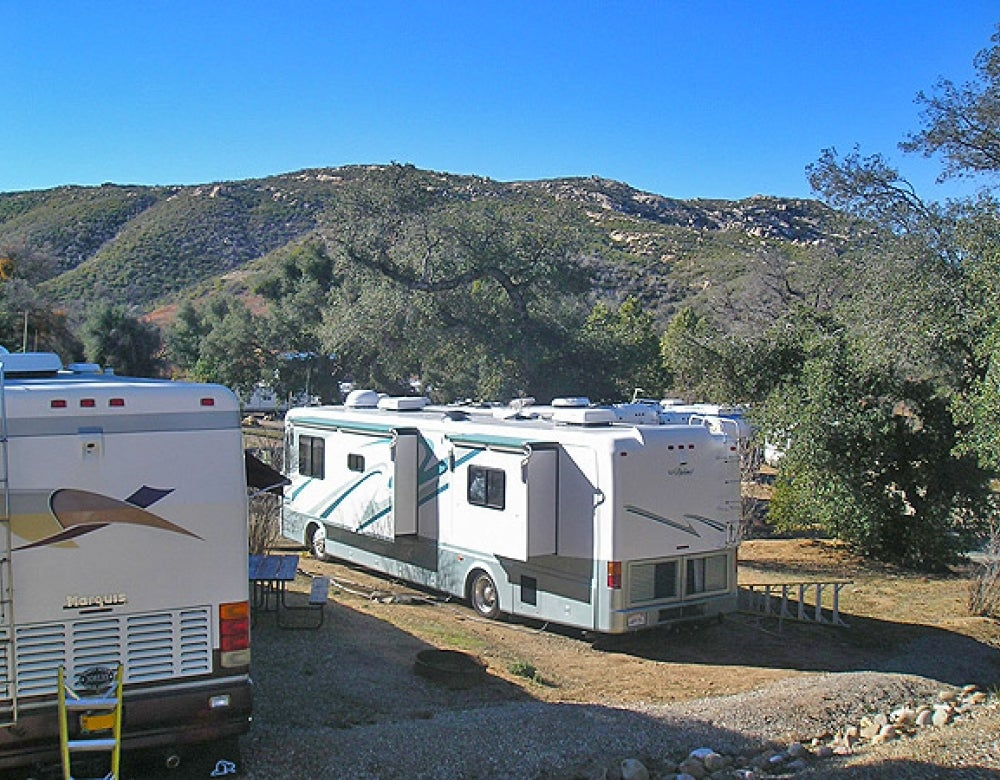 rv's parked at campground