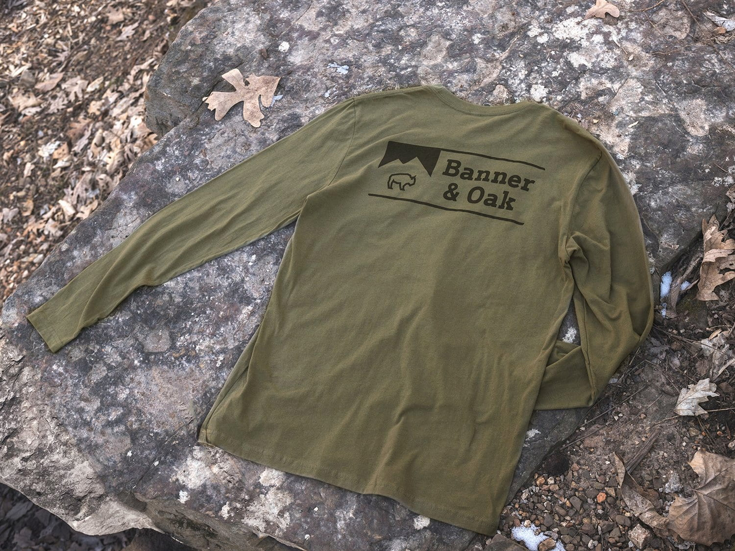 Banner and Oak long sleeve shirt for fall camping