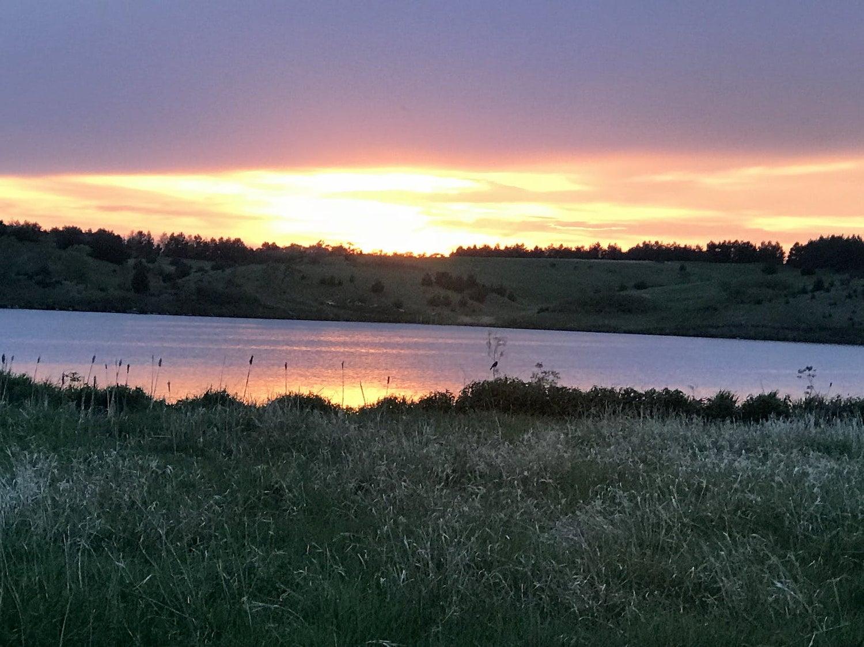 lake vermillion at sunset