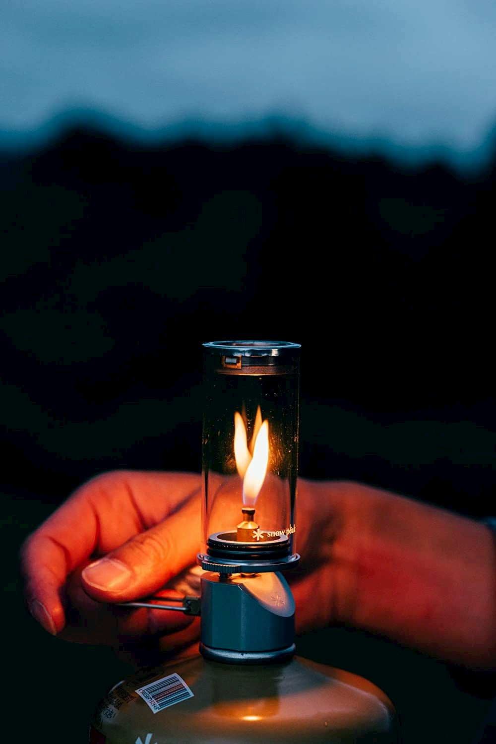 Snow peak mini flame nocturne lantern.
