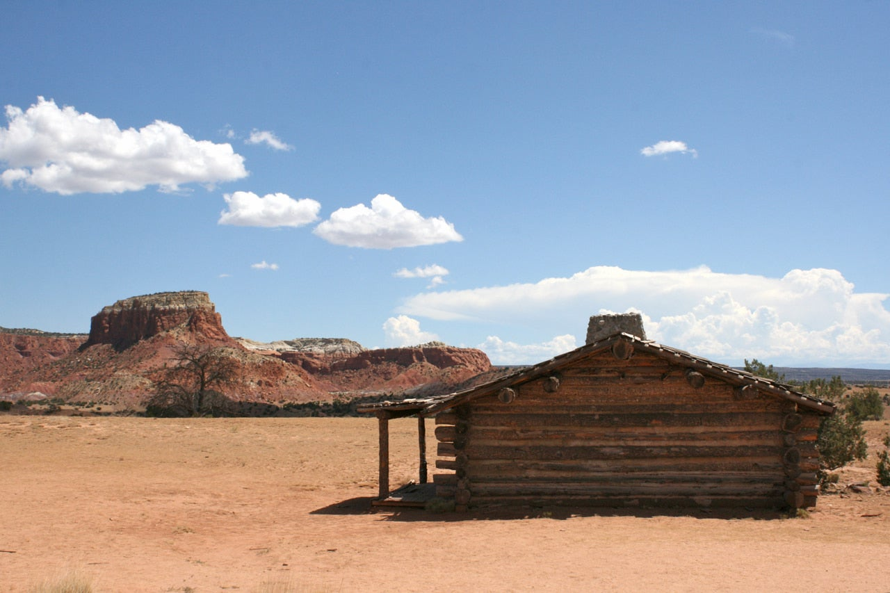 Log cabin on the Ghost Ranch Property.