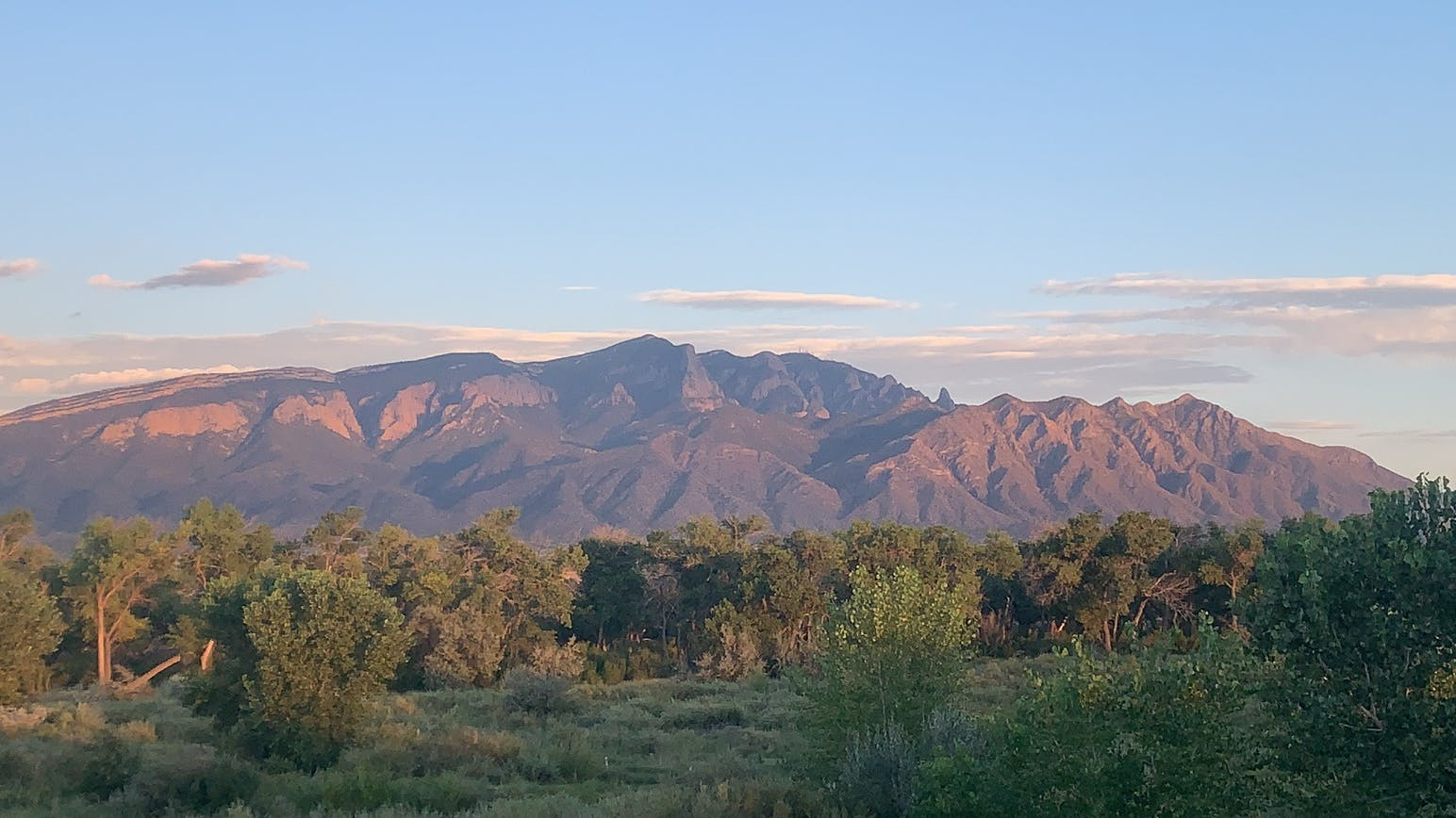 sunset on mountain, view from the campground