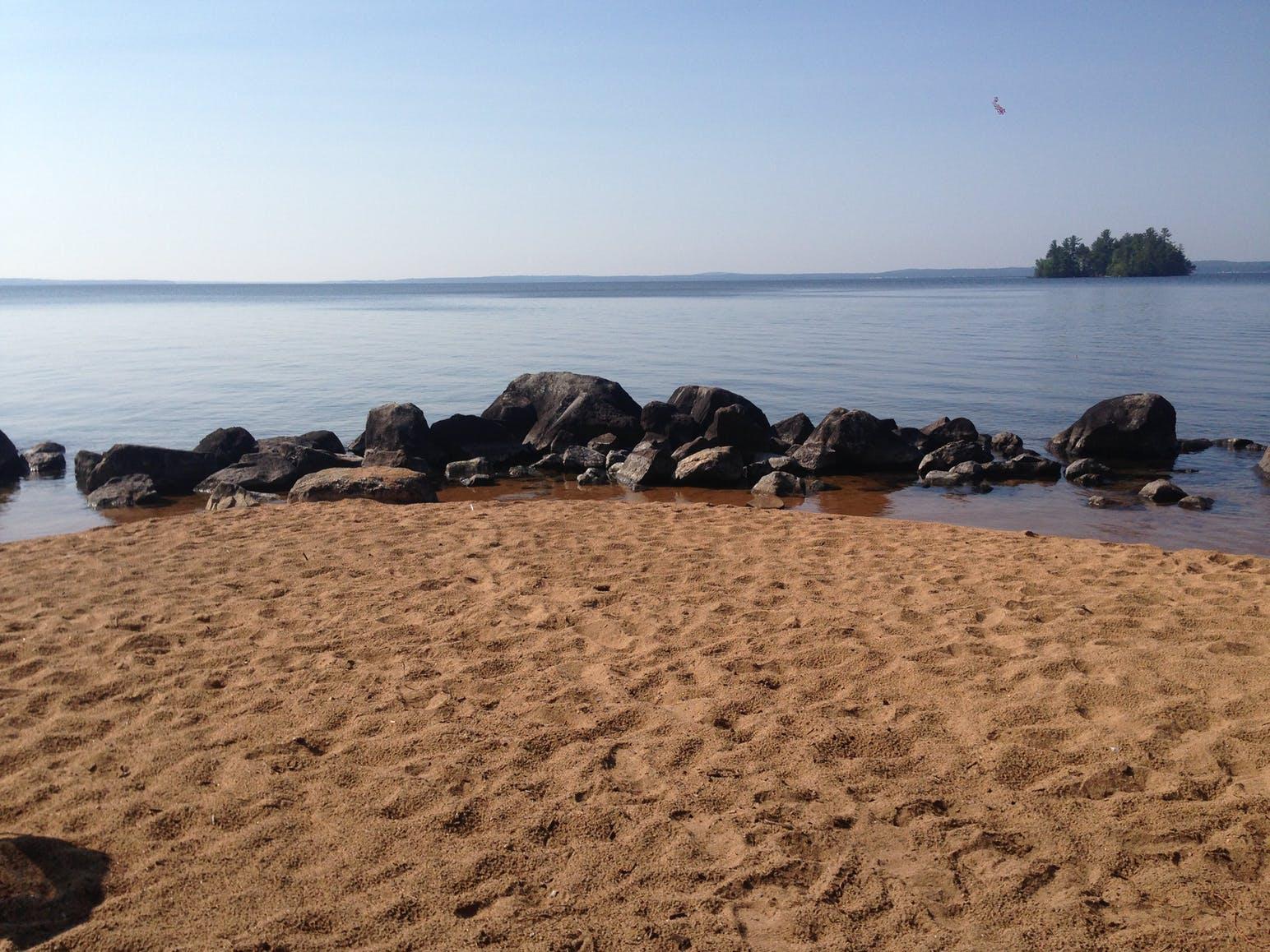 sand and rocks on beach