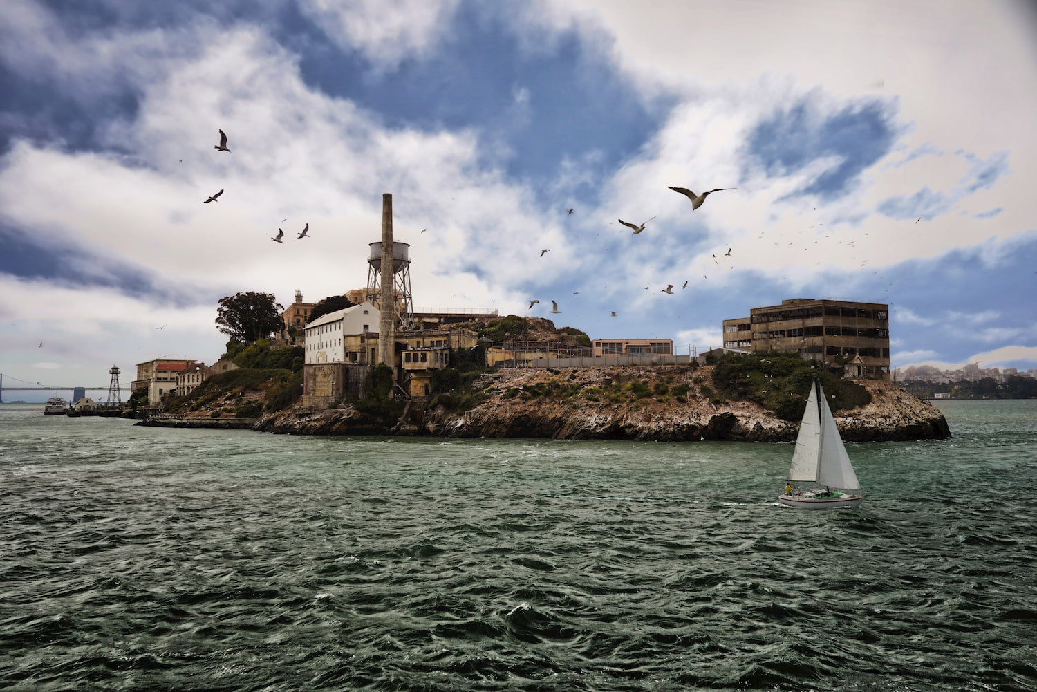 Alcatraz Island in San Francisco Bay.