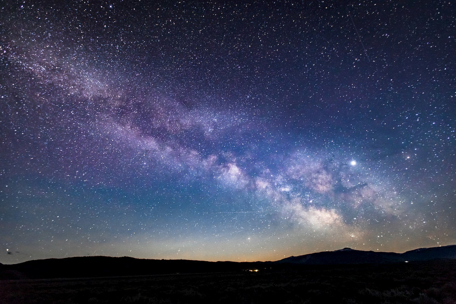 milky way as seen from wyoming