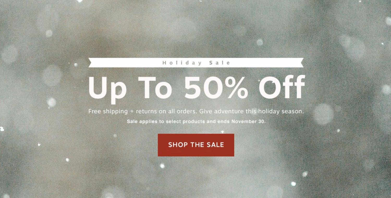 osprey 50% off discount banner